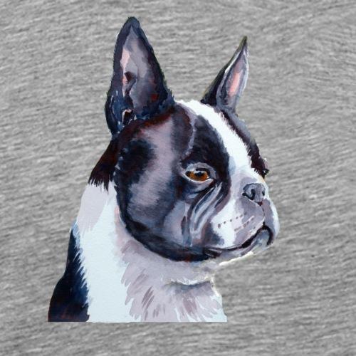 boston terrier - Herre premium T-shirt