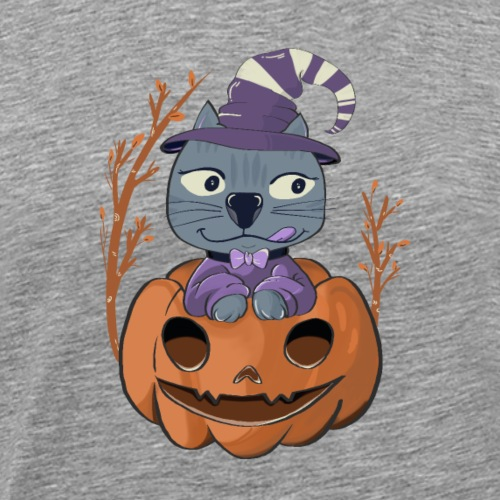Chat d'halloween - T-shirt Premium Homme