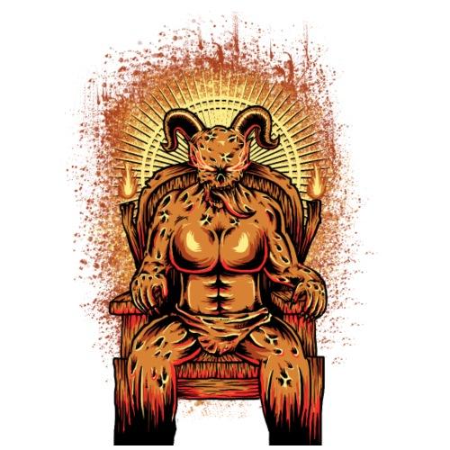Devil on his throne - Männer Premium T-Shirt