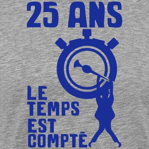 25 ans temps compte chronometre homme ac - T-shirt Premium Homme