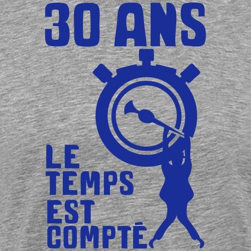 30 ans temps compte chronometre homme ac - T-shirt Premium Homme