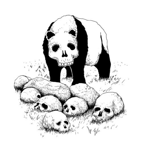 panda skull - T-shirt Premium Homme