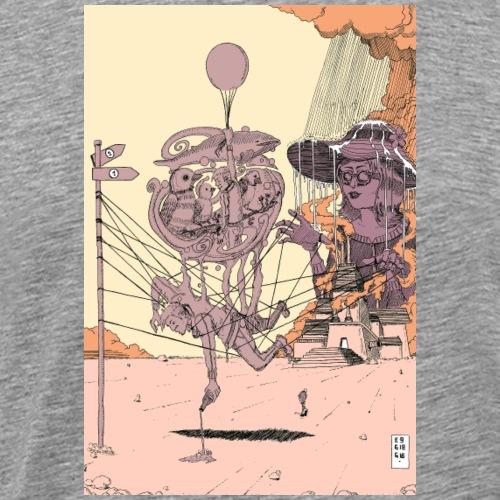 TwoPaths in Rosa - Männer Premium T-Shirt
