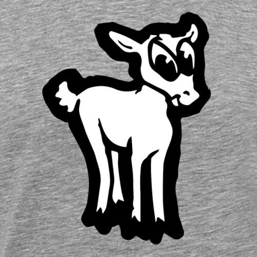 Comic Lämmchen Lustig Geschenkidee Unschuldslamm - T-shirt Premium Homme
