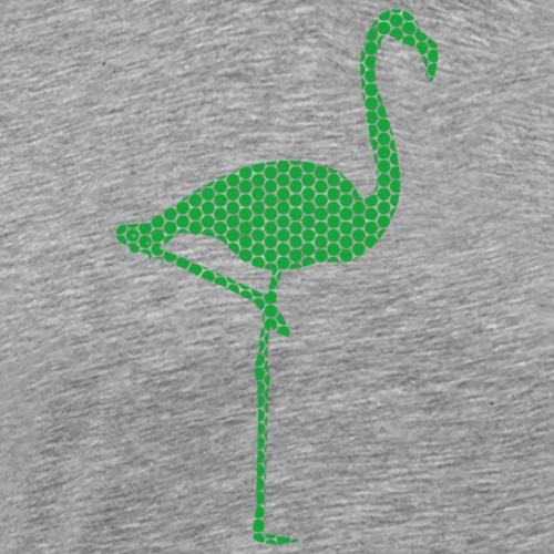Flamingo Gruen - Männer Premium T-Shirt