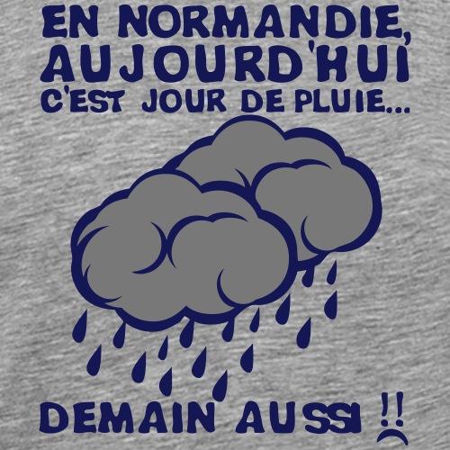 normandie jour pluie nuage demain aussi - T-shirt Premium Homme