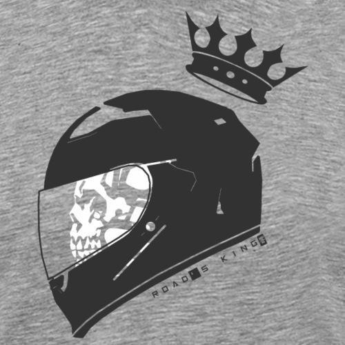 Road's King [B & W] - Men's Premium T-Shirt