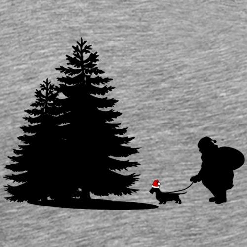 Weihnachtsmann und Weihnachtsdackel dackelfieber - Männer Premium T-Shirt