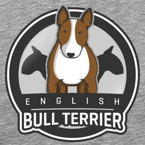 English Bull Terrier Front - Männer Premium T-Shirt
