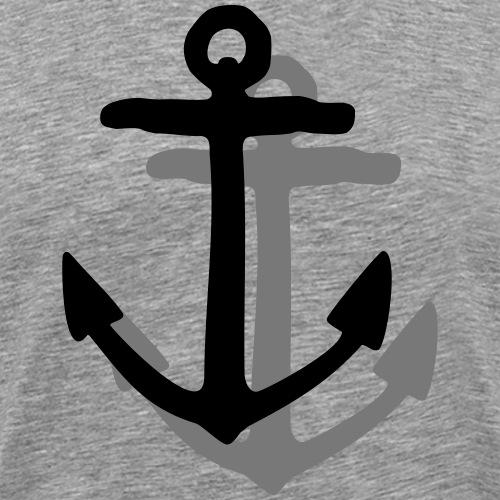 Anker mit Schatten (Zweifarbig Vektor) - Männer Premium T-Shirt