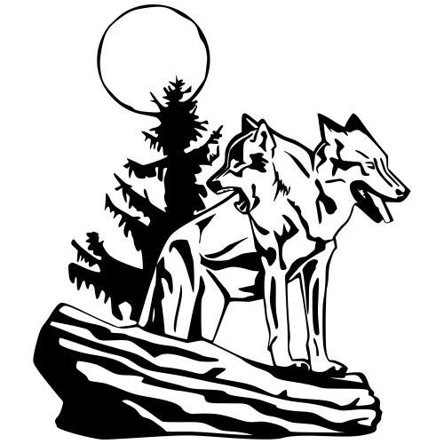 Two-Headed Wolf - Men's Premium T-Shirt