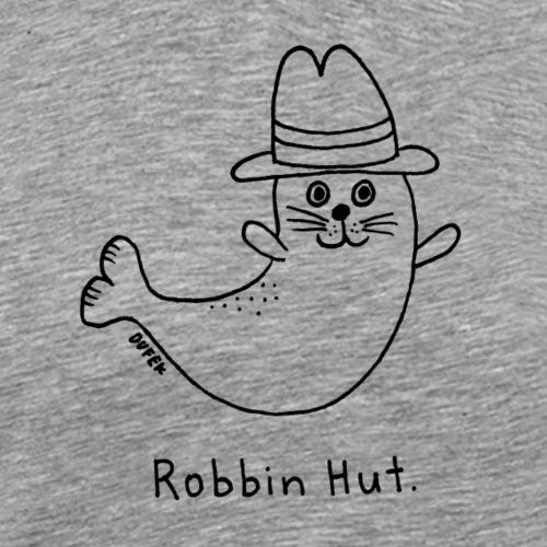 Robbin Hut (schwarz) - Männer Premium T-Shirt