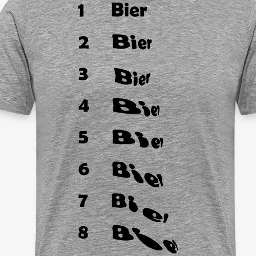 Bierliste deutsch - Männer Premium T-Shirt