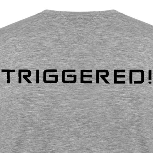 Black Negant logo + TRIGGERED! - Herre premium T-shirt