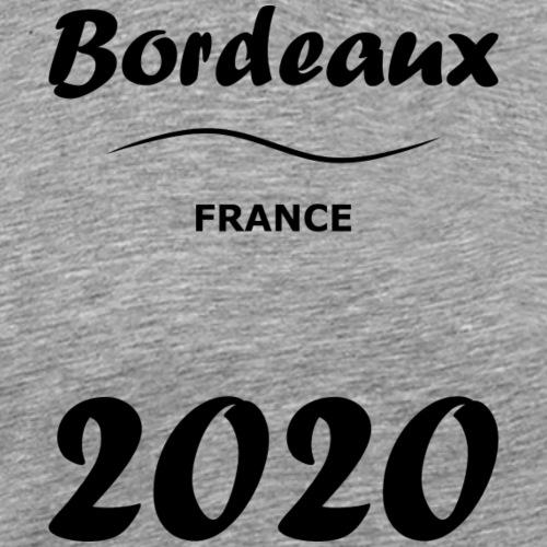 Bordeaux 2020 noir - Men's Premium T-Shirt