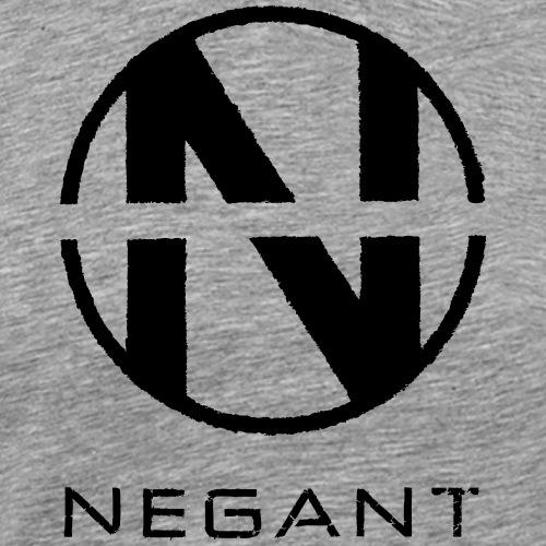 Black Negant logo - Herre premium T-shirt