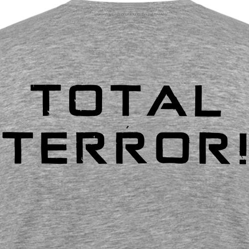 Black Negant logo + TOTAL TERROR! - Herre premium T-shirt