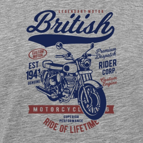 British Motorcycle - T-shirt Premium Homme