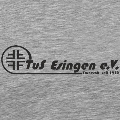 TuS-Esingen Logo Lang Schwarz - Männer Premium T-Shirt