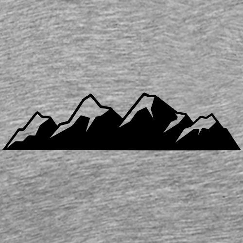 Bergkette - Männer Premium T-Shirt