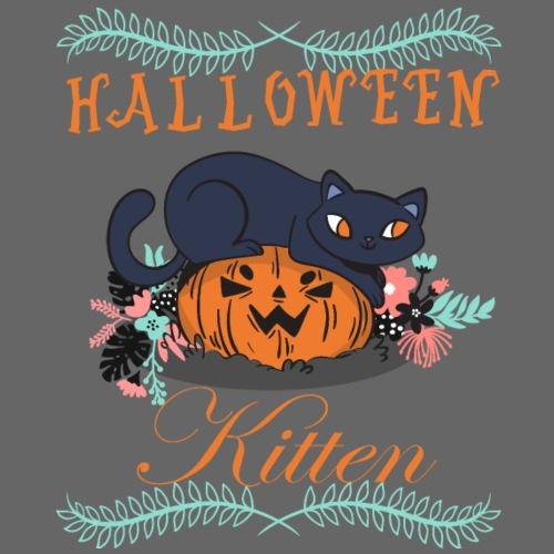 Halloween cat kitten cat pumpkin kuerbis gourd - Men's Premium T-Shirt