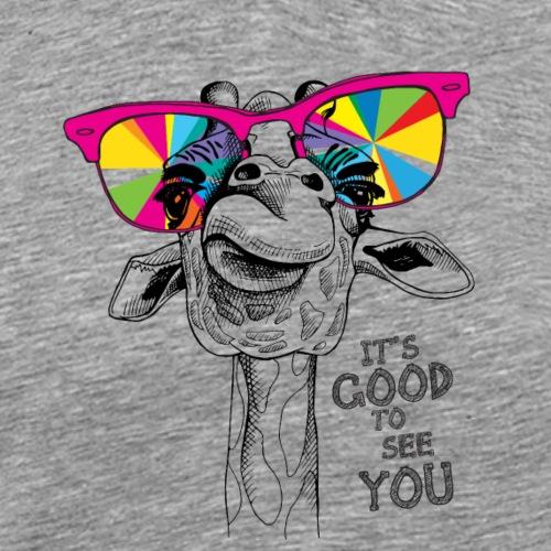 Giraffe It's good to see you - Männer Premium T-Shirt