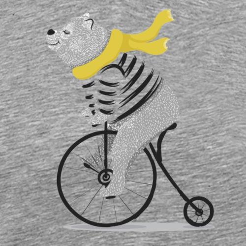 Einrad Bär - Männer Premium T-Shirt