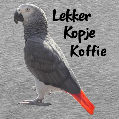 lekker kopje koffie rico de pratende papegaai - Mannen Premium T-shirt