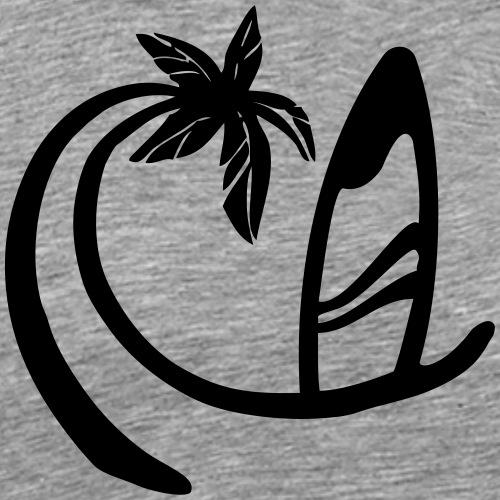 Surferwellenpalme - Männer Premium T-Shirt