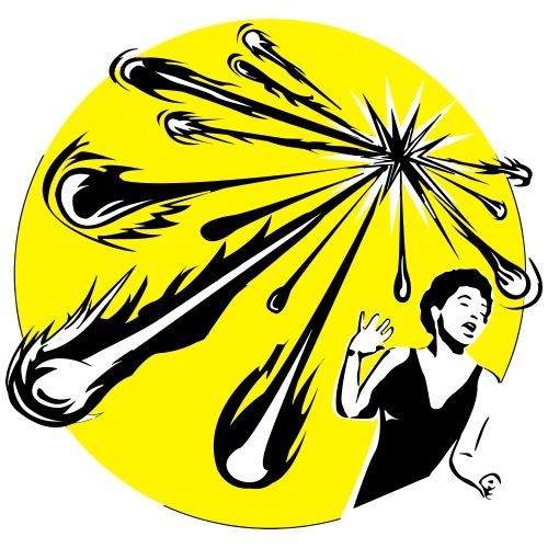 Yellow Meteor Shower Scream - Men's Premium T-Shirt