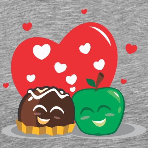 Manzana y Bombon - Camiseta premium hombre
