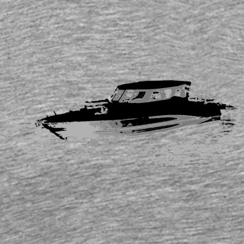 Fishing Boat Gray and Black colors - Men's Premium T-Shirt
