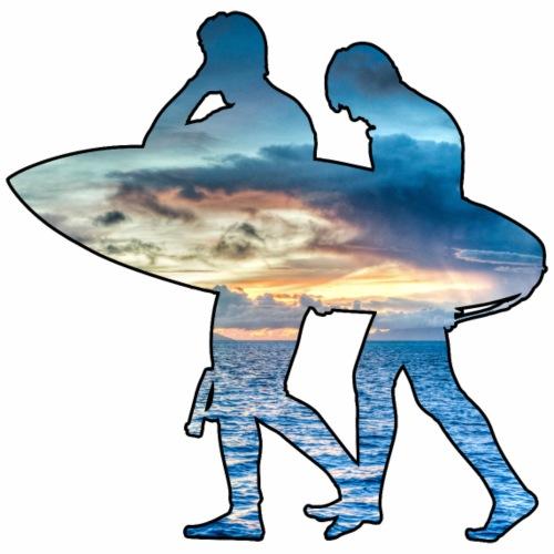 Les surfeurs ! - T-shirt Premium Homme