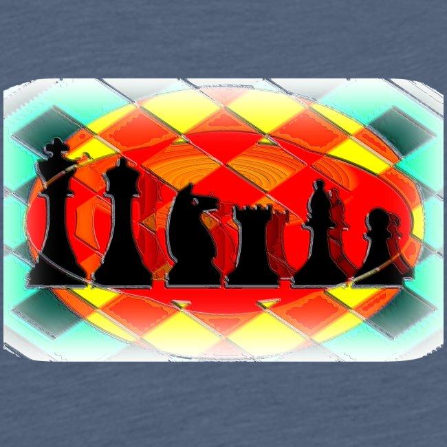 Schachfigurengruppe vignettiert