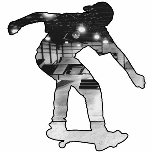 Le Skateur dans un skate Park en intérieur - T-shirt Premium Homme