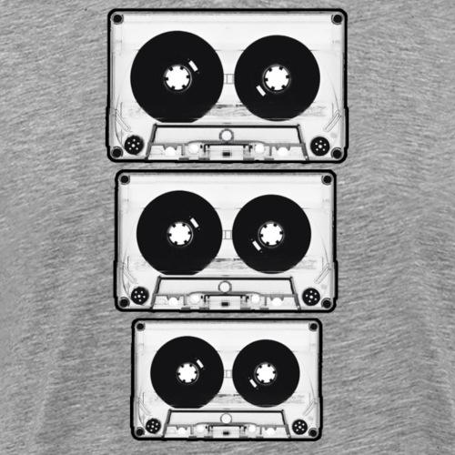 casettes BW - Herre premium T-shirt