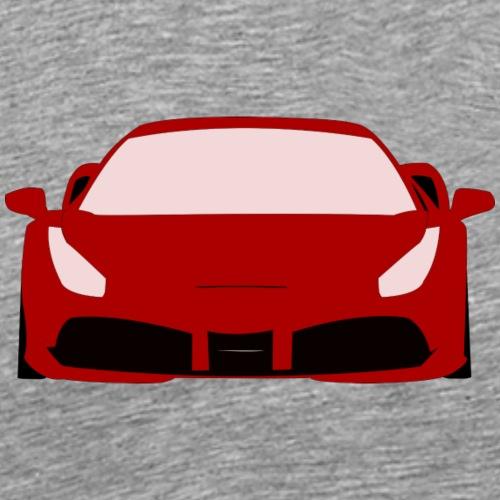 Roter Sportwagen - Männer Premium T-Shirt