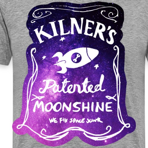 Kilner's Patented Moonshine (Stars) - Men's Premium T-Shirt