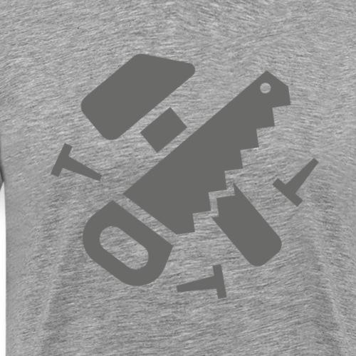 Hammer Saw Work Icon - Men's Premium T-Shirt