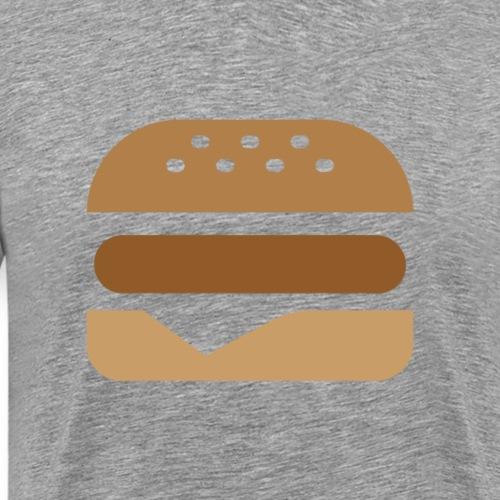 Burger Icon Color - Men's Premium T-Shirt