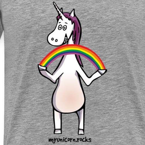 Magic unicorn with rainbow - Men's Premium T-Shirt