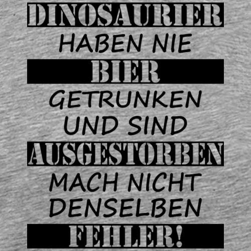 Dinosaurier & Bier (schwarz) - Männer Premium T-Shirt