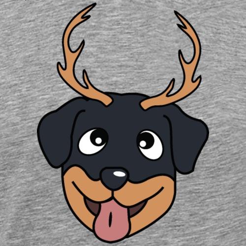Baby Rottweiler mit Geweih - Männer Premium T-Shirt