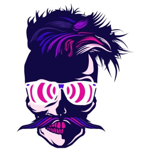 tete de mort hipster crane skull moustache fantais - T-shirt Premium Homme