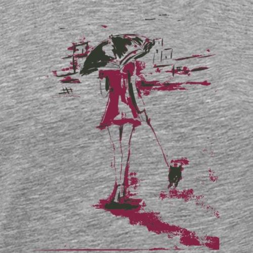 Frau mit Mops