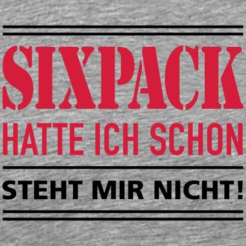 Sixpack Bier Bauch Muskel Body Builder Figur - Men's Premium T-Shirt