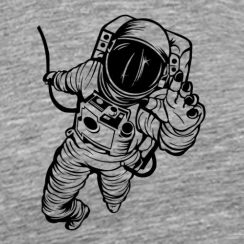 astronauta vinilo decorativo - Camiseta premium hombre