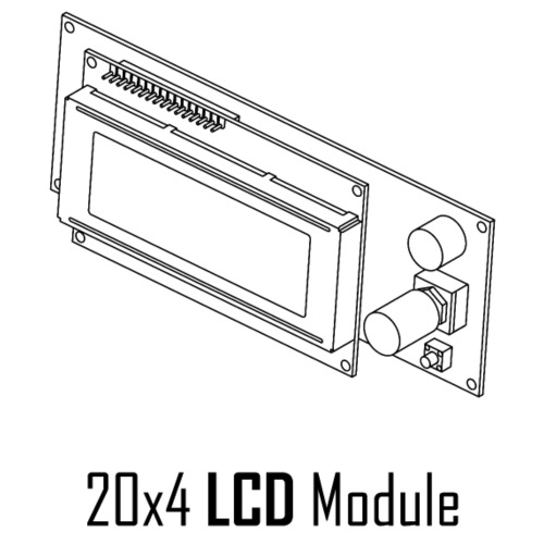 20x4 LCD Module - Men's Premium T-Shirt