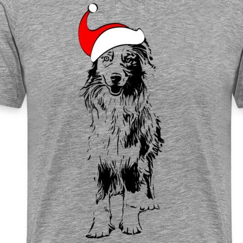 Weihnachten Australian Shepherd Aussie Hund - Männer Premium T-Shirt