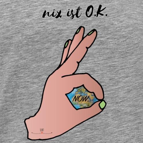nix ist OK - Männer Premium T-Shirt